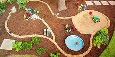 Backyard car track DIY tutorial. Including tunnel! by jeannie