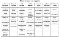 уборка квартиры расписание: 10 тыс изображений найдено в Яндекс.Картинках