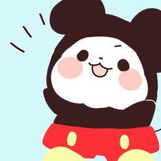 Chibi in Mickey Mouse suit Panda Love, Cute Panda, Panda Bear, Kawaii Drawings, Easy Drawings, Panda Funny, Chibi Cat, Funny Iphone Wallpaper, Creepy Cute
