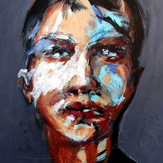 Jean-Jacques Piezanowski: Portrait Painting, Contemporary Art, Depiction of the Human Face and visual expression of life. Zeitgenössische Malerei, Neoexpressionist