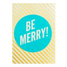 Be Merry Stripes Card Set by Hello Lucky