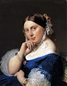 "Jean-Auguste-Dominique Ingres: ""Portrait of Delphine Ramel, Madame Ingres, 1859 Classic Paintings, Paintings I Love, Oil Paintings, French Paintings, Painting Portraits, Portrait Art, Hieronymus Bosch, Jacque Louis David, Beauty"