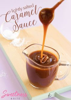 Lightly Salted Caramel Sauce ~ a rich, dark caramel sauce with just the right amount of salt, and troubleshooting tips for the perfect caramel sauce.