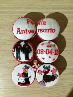 Cupcakes de Olafo el amargado y Helga / amor / aniversario