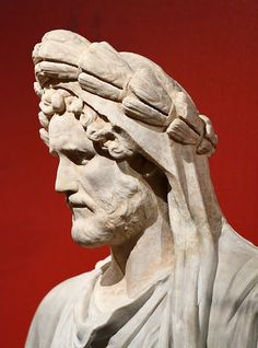 Portrait of the emperor Antoninus Pius (reigned AD) in ritual attire as… Ancient Rome, Ancient Art, Ancient History, Rome Antique, Art Antique, Roman Sculpture, Sculpture Art, Antonin Le Pieux, Sculpture Romaine
