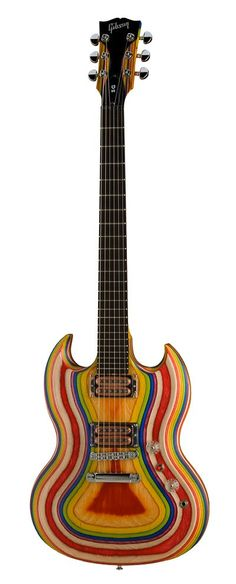 Gibson SG Zoot Suit rainbow guitar: