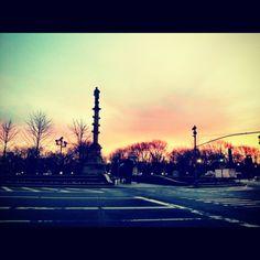 #newyork #nyc #sunrise #columbuscircle #instagram