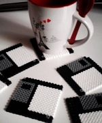 4 x Floppy Disk Hama Bead coasters