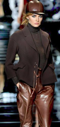 Leather Trends: Leather pants and Hat on the Runway - Ermanno Scervino