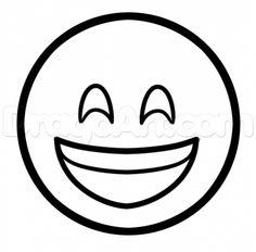 Emoji Happy Coloring Pages