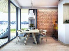Projekt domu Malutki dr-S 79,48 m2 - koszt budowy 199 tys. zł - EXTRADOM Modern Barn House, Modern Houses, Loft, Architect House, House In The Woods, Scandinavian Style, House Plans, Dining Table, Backyard