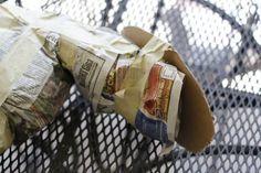 DIY paper mache animal heads tutorial and process via lilblueboo.com