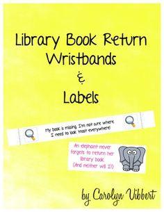 Book Return reminder wristbands and stickers. | riskingfailure.blogspot.com