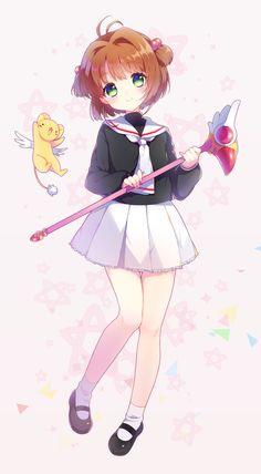 Tags: Cardcaptor Sakura, Kinomoto Sakura, Kero-chan, Pixiv Id 6320015