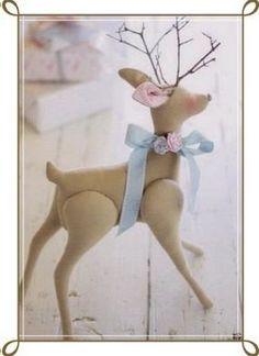"Photo from album ""tild w on Yandex. Pastel Blue Color, Light Blue Color, Blue Christmas, First Christmas, Tilda Toy, Deer Pattern, Bambi, Diy Tutorial, Tinkerbell"