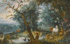 ヤン・ブリューゲル (子) (Jan Brueghel de Jonge)「Paradise landscape with the fall of man」