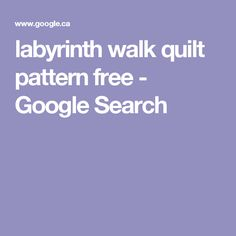 Quilt Pattern Labyrinth Walk Instruction Guide