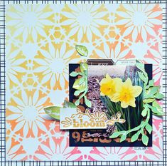 Hi there! Today I am going to share a traditional scrapbook layout using 4 of the new stencils and 2 of the new metallic modeling pastes ...