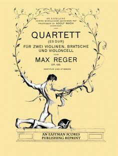 Reger, Max : Quartett Es dur fur zwei Violinen, Bratsche und Violoncell, Op. 109
