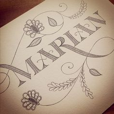 Marian / Jessica Hische / hand lettering / calligraphy / font / card / name / design / doodle