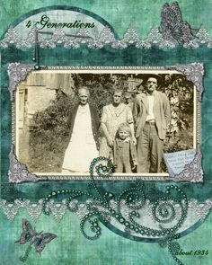 4 generations...heritage scrapbook layout