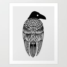 Raven Art Print by Alexandra Boman - $20.00