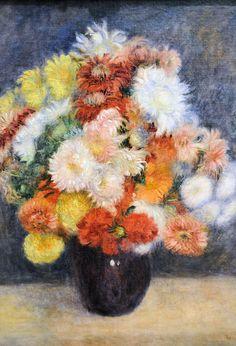 Pierre Auguste Renoir - Bouquet of Chrysanthemums at New York Metropolitan Art Museum