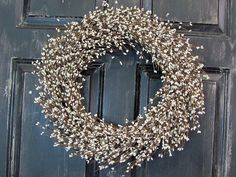 Here is a great wreath for your every day decorating. Add a red bow and the wreath will look wonderful for Valentines Day or Christmas. Add a pink,