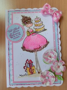 birthday card with Stamping Bella, Ava loves to celebrate.