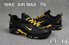 Nike Air Max Tn KPU Black Gold Men's Running Shoes Sneakers Nike Air Max Tn, Nike Air Max Plus, Nike Air Vapormax, Casual Sneakers, Air Max Sneakers, Casual Shoes, Shoes Sneakers, Running Shoes For Men, Mens Running