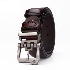 Chunky Buckle Leather Belt