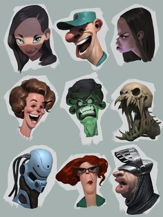 Pin by ritwik nag on character art in 2019 дизайн персонажей Character Sketches, Character Design Animation, Character Design References, Character Drawing, Character Illustration, Character Concept, Concept Art, Cartoon Faces, Cartoon Styles