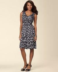 Sleeveless Knot Front Dress Leopard Spot Grey  my soma wish list sweeps  Front Knot Dress 2b6374122