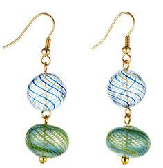 The Met Store - Swirl Blown-Glass Bead Earrings