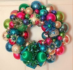 Love this! Great way to use extra and/or old ornaments.