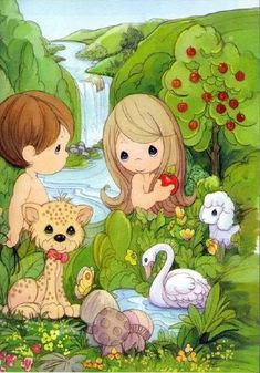 Precious Moments Adam and Eve