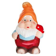 Garden Gnome With Toadstool | Poundland