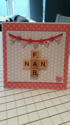 Scrabble card Nan