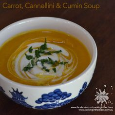 Carrot Cannellini & Cumin Soup - Cooking in the Chaos - Thermomix Recipe