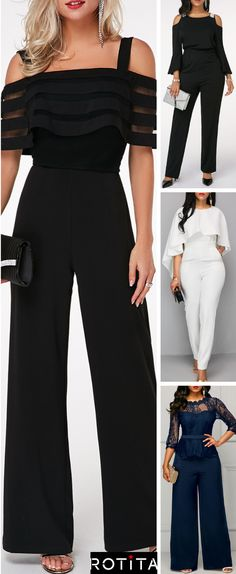Jumpsuits are in trend this season. Women can rock this look effortlessly with these 4 jumpsuit outfit ideas! Lets get started! Jumpsuits are in trend this season. Women can rock this look effortlessly with these 4 jumpsuit outfit ideas! Lets get started! Classy Dress, Classy Outfits, Mode Outfits, Fashion Outfits, Womens Fashion, Skinny Jeans Damen, Jumpsuit Outfit, Pink Jumpsuit, Striped Jumpsuit