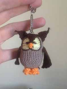 ao with <3 / owl key tag