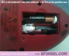 b for bel: Tips & Tricks: When you run out of AA Batteries...