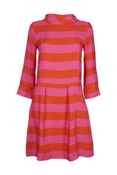Tabitha Webb Red and Pink Stripe Edie dress