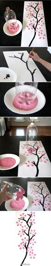 Aprenda a fazer uma árvore feita com massinha e garrafa pet.