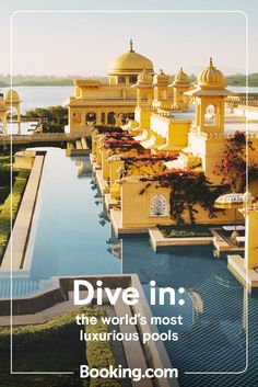 Dream destinations don't come more luxurious than these hotel pools. From uninterrupted ocean views to cocktails while you swim, immerse yourself. Hotel Pool, Ocean Views, Beach Hotels, Pools, Diving, Taj Mahal, Travelling, Destinations, To Go