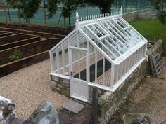 Evan Douce Design  Glasshouses.co  Completed Today Isle of Wight. Home Greenhouse, Ornamental Plants, Conservatory, Walkway, Winter Garden, Shed Homes, Shrubs, Exterior, Lawn