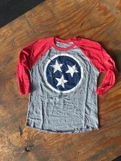 Tennessee Tri-star baseball tee