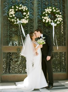 Classic Black Tie Wedding at Flood Mansion :: Molly & Austin Black Tie Wedding, Elegant Wedding, Perfect Wedding, Classic Weddings, Wedding Wreaths, Wedding Flowers, Wedding Decorations, Wedding Dresses, Summer Wedding