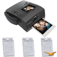"Polaroid Z340 Instant Digital Camera with ZINK Zero Ink Printing Technology with POLZ2X330 M230 Premium 3x4"" Zink Paper | My Canon Digital Camera"