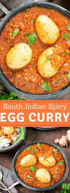 This south Indian spicy egg curry recipe is quick ever-day dinner/ lunch recipe that you cook. It pairs well with rice or rotis(flatbread). Its super easy recipe and takes less than 30 minutes to get the curry ready. Egg Masala, Masala Curry, Easy Healthy Dinners, Easy Healthy Recipes, Easy Egg Recipes, Healthy Soups, Potato Recipes, Healthy Snacks, Spicy Egg Curry Recipe